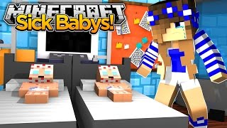 Minecraft Little Carly-MY BABY BROTHERS GET SICK!!