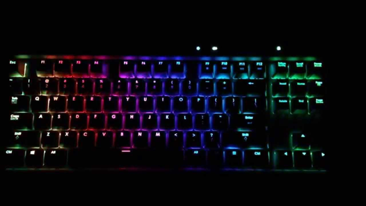 Corsair K65 RGB Keyboard Rainbow Profile