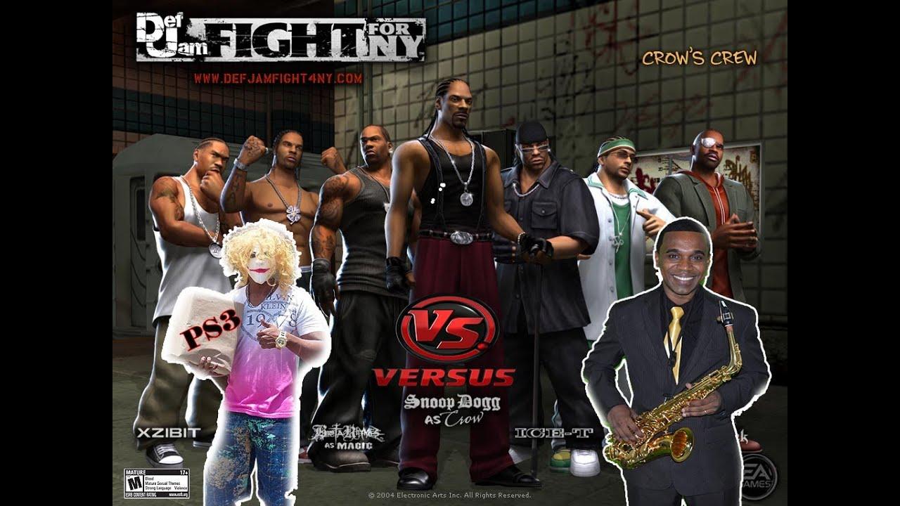 batalha em def jam  fight for ny de ps2 no monstro ps3