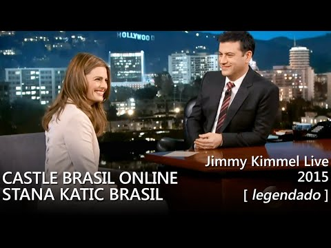 Stana Katic - Jimmy Kimmel Live 2015 (legendado) [HD]