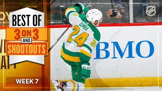 Best 3-on-3 Overtime and Shootout Moments from Week 7 | NHL