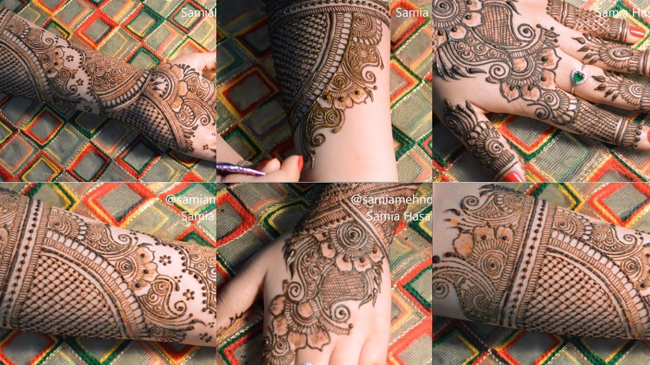 Full hand bridal hennamehndi tutorial front back step by step full hand bridal hennamehndi tutorial front back step by step samia hasanat baditri Images