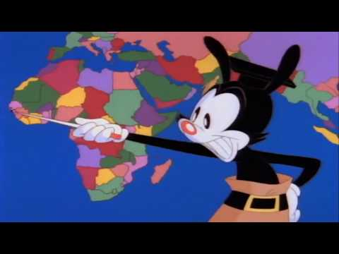Yakko's World but everything that's not a sovereign state is censored