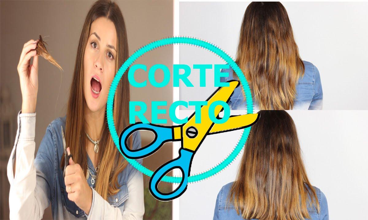 Como cortar el cabello recto perfecto