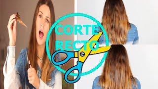 CORTE DE PELO RECTO EN CASA | 3rosasmakeup
