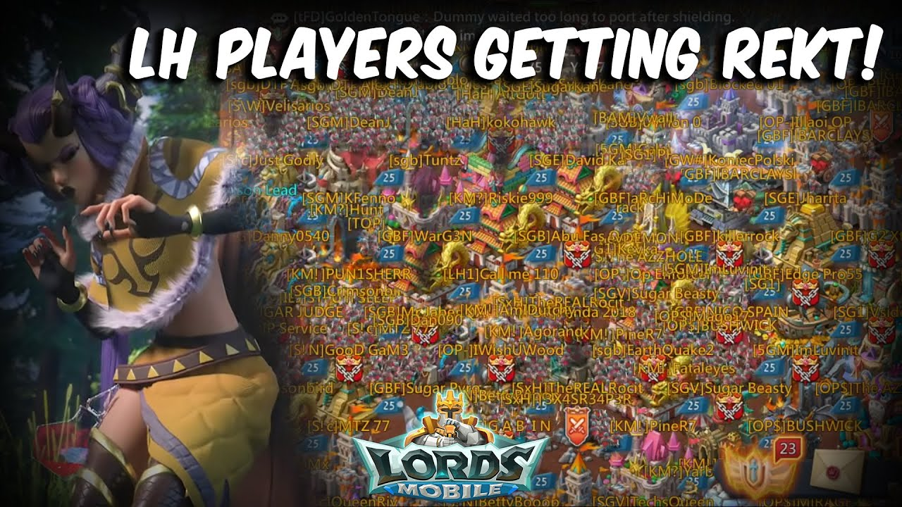 LH PLAYERS GETTING REKT | 2 Billion Might & Champ Player ZEROED - Lords Mobile