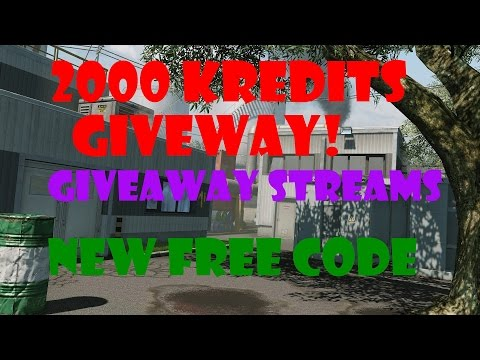 2000 Kredits Giveaway, Free Code And Giveaway Streams!