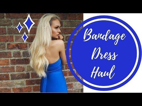 9dedeeb399f6c ZAFUL BANDAGE DRESS TRY ON HAUL