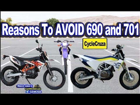 Why I Would NOT BUY a KTM 690 Enduro R Husqvarna 701! WR250R is BETTER!    MotoVlog