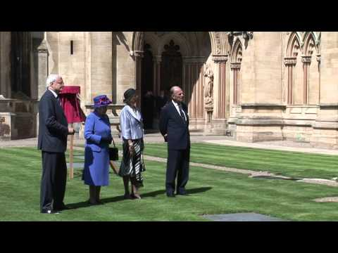 The Queen visits St John's College, Cambridge