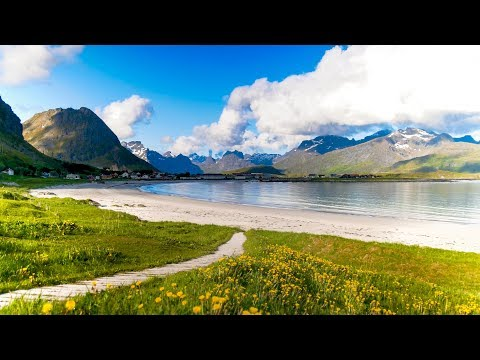 Uplifting Music - light, positive, happy music [Gullrosøya - 1 hour]