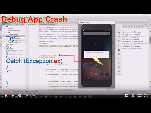Android Studio #13: How To Debug an Android App when it Crashes on Debug Mode
