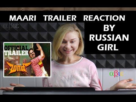 Maari Trailer Reaction By Ukrainian Girl - Dhanush | Kajal Agarwal