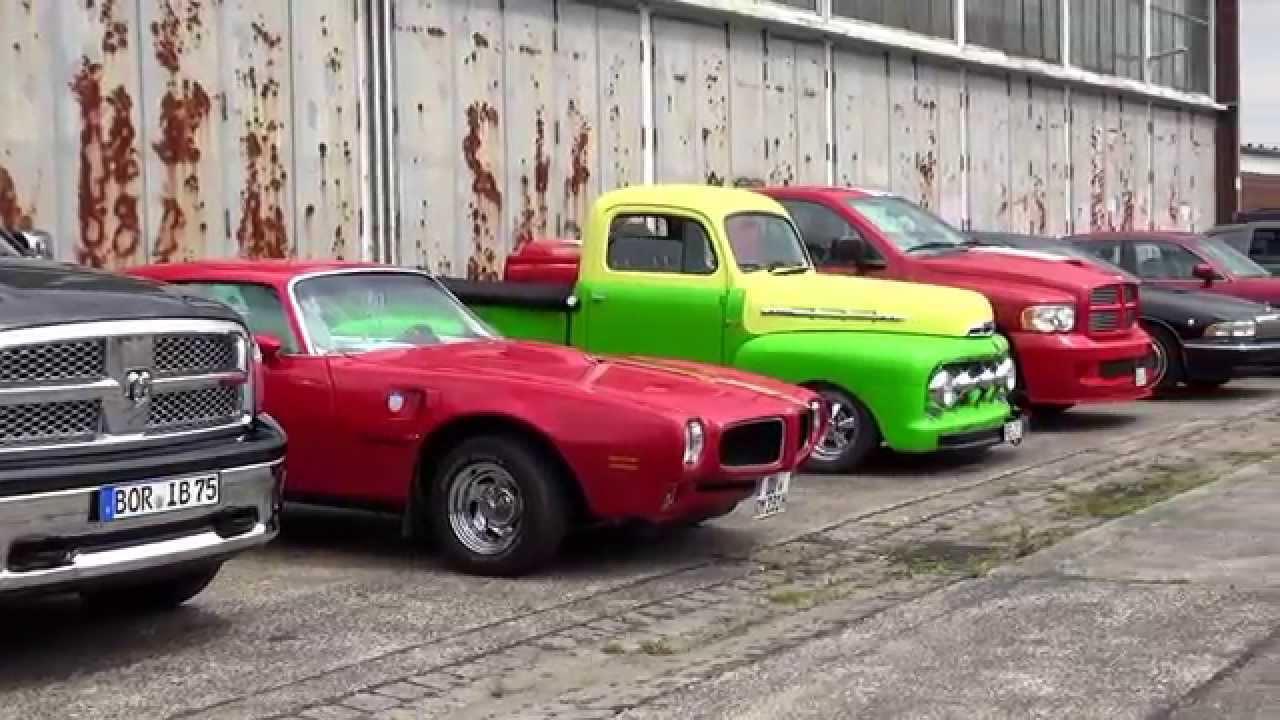 Er cars garage us cars oldtimertreffen youtube for Garage alvergnas automobiles
