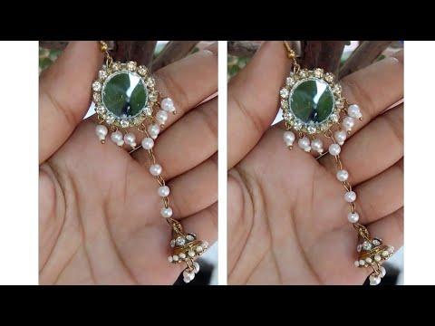 #Mirror Earrings With #Jhumka / Handmade Mirror Earrings    jewellery and creativity
