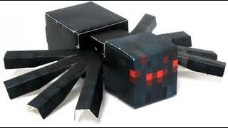 Repeat youtube video Paper craft Spider Minecraft no bad words minecraft toys, Игрушки Майнкрафт.