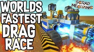 Scrap Mechanic - THE DRAG RACING CHALLENGE!! VS AshDubh - [#52] | Gameplay