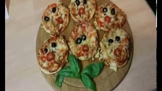 Пицца для детей   мини пицца из слоеного теста