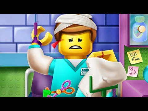 Lego Game Movie - Lego Worker Hospital Recovery - Lego Games for Kids & Babies