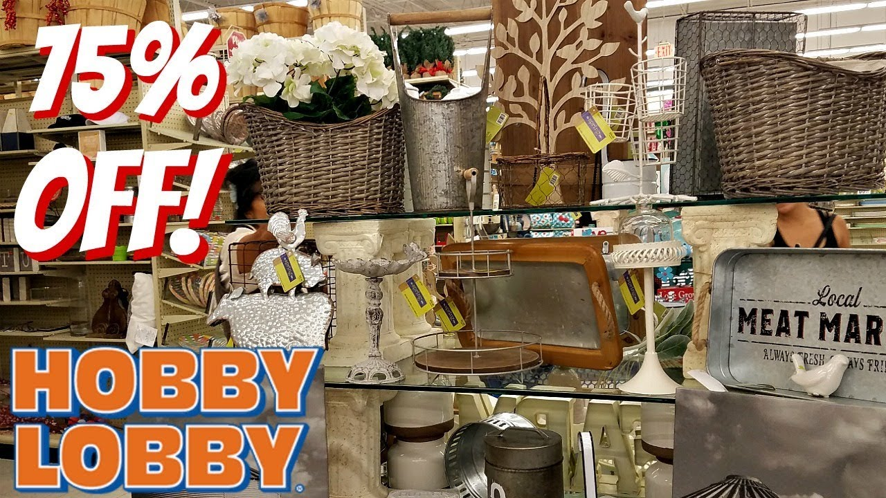 HOBBY LOBBY CLEARANCE 75% OFF SHOP WITH ME HOME DECOR ...