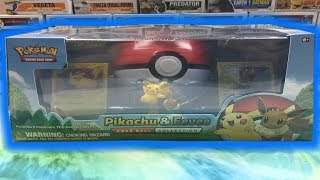 PIKACHU & EEVEE POKE BALL COLLECTION BOX OPENING! POKEMON CARD OPENING