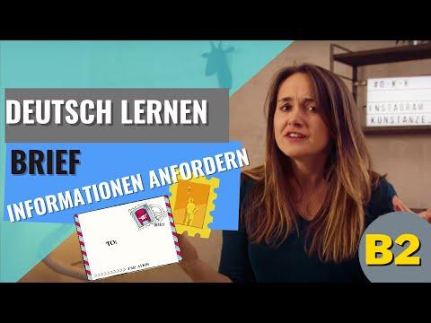Deutsch Lernen: B2 Brief Informationen Anfordern