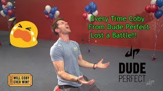 Every Time Coby From Dude Perfect Lost a Battle!!