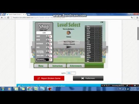 How To Play Sports Heads Soccer Unblocked?