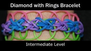 Rainbow Loom® Diamond with Rings Bracelet