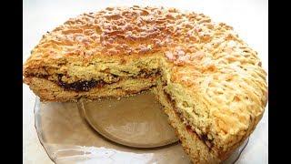 Пісний пиріг з повидло! Дуже смачний