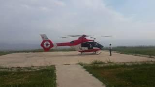 Ambulans Helikopter Kalkış Anı