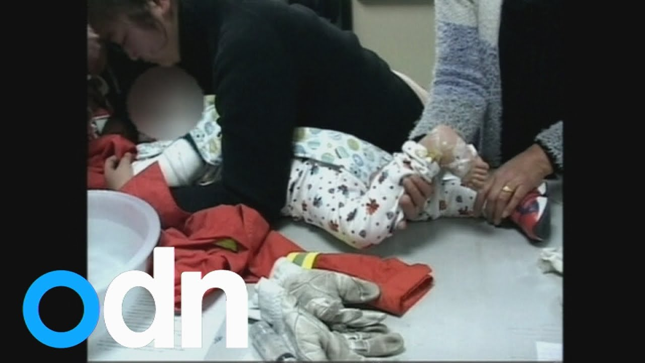 Firefighters pull baby's hand out of a blender