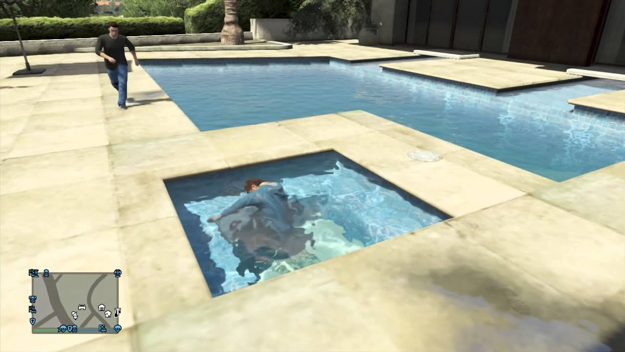Piscine de la mort sur gta 5 youtube for Piscine 4 par 8
