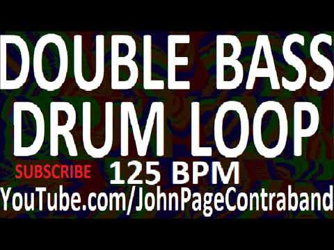 HOUR LONG Double Bass Drum Loop 125 bpm Metal Jam Track