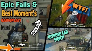 Pubg Mobile : EPIC FAIL'S, FUNNY MOMENT'S, WTF MOMENT'S Gameplay Collection!