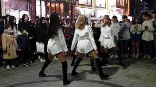 190224 댄스팀 #UA(다이아나_guest) 4 - Yes or Yes @홍대Busking[4k60f][직캠 shinlim]