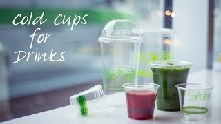 Compostable Plastic Cold Drink and Parfait Cups Demonstration by Good Start Packaging