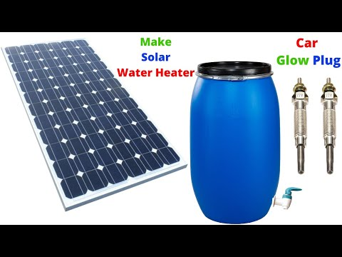 Make Solar Water Heater From Car Glow Plug  Homemade Water Heater Diy Solar Water Heater