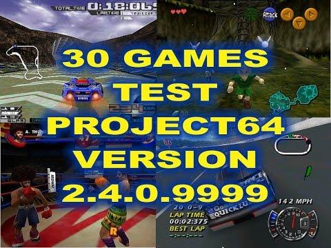 30 GAMES PROJECT64 V  2 4 0 9999 TEST by EMURETRO