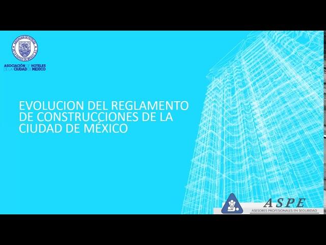 Evolución del reglamento de construcciones de la Ciudad de México y su cumplimiento.