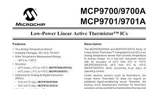 Термодатчик для термометров и терморегуляторов MCP9700