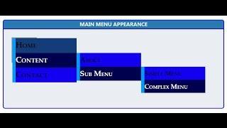 HTML CSS Vertical Menu Generator Online Tutorial Example