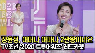 장윤정, 감동의 수상소감으로 트롯맨들을 감동시킨 하영이 엄마 (TV조선 '2020 트롯어워즈'…