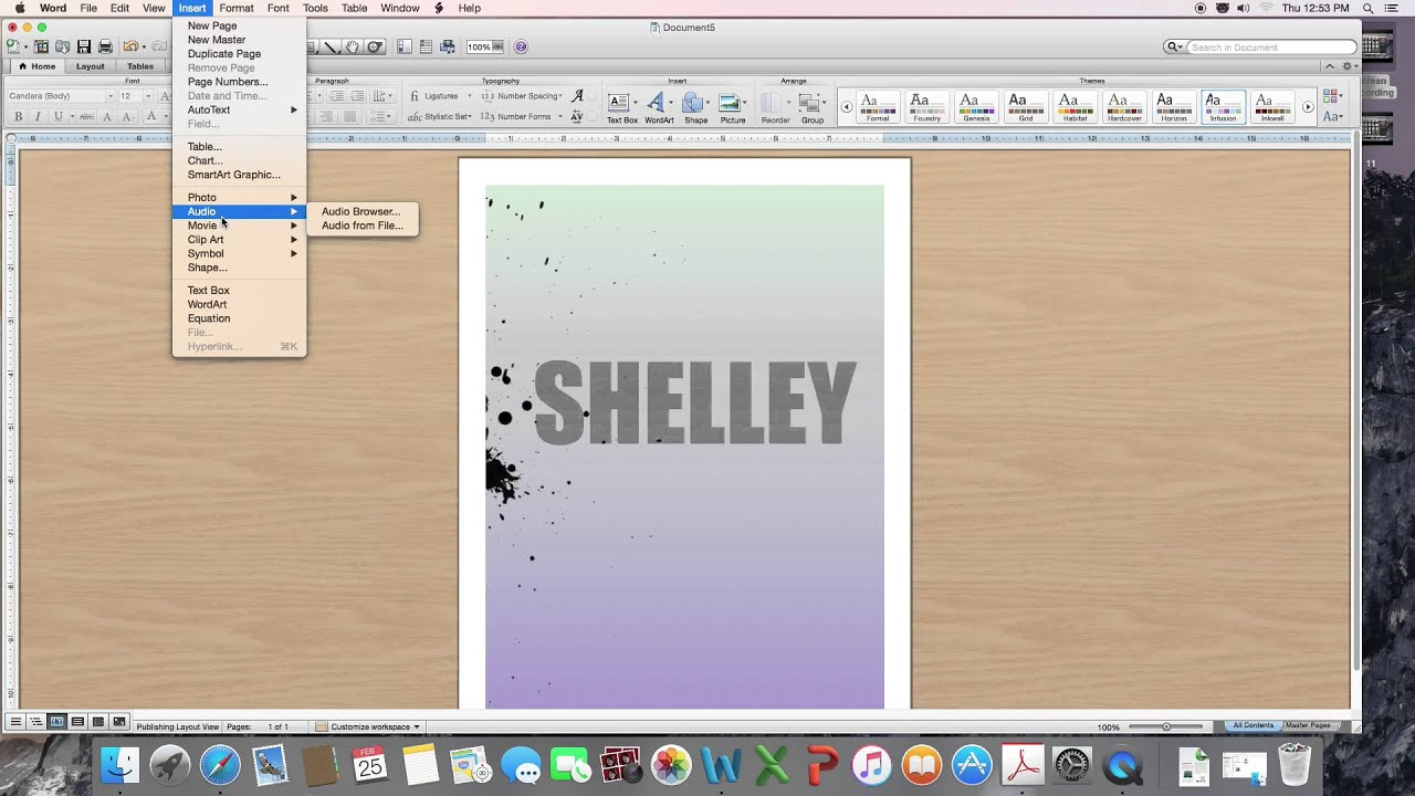 how to make a cover page using microsoft word youtube