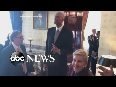 Medal of Freedom Recipients Stage a Mannequin Challenge at the White House