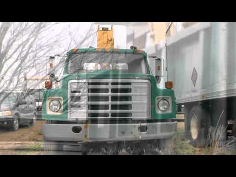 International boom truck, Used 1985 International boom truck for sale Toronto Ontario.