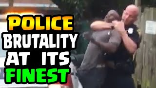 COP CHOKES MAN IN HANDCUFFS - POLICE BRUTALITY AT ITS FINEST