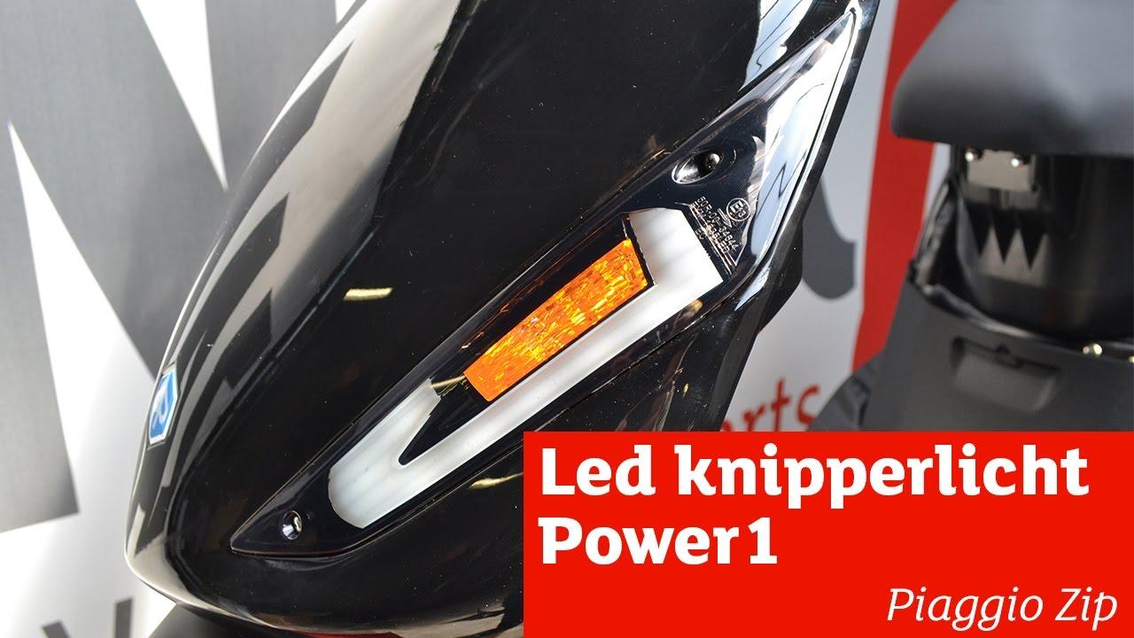 Super Led knipperlichten Power1 monteren | Piaggio Zip - YouTube UH-09