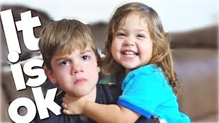 Autism Meltdown Sister Comforts Brother - Real Life Atypical Relationship