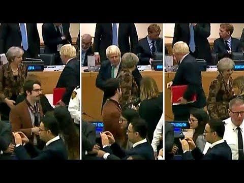 Watch Theresa May and Boris Johnson